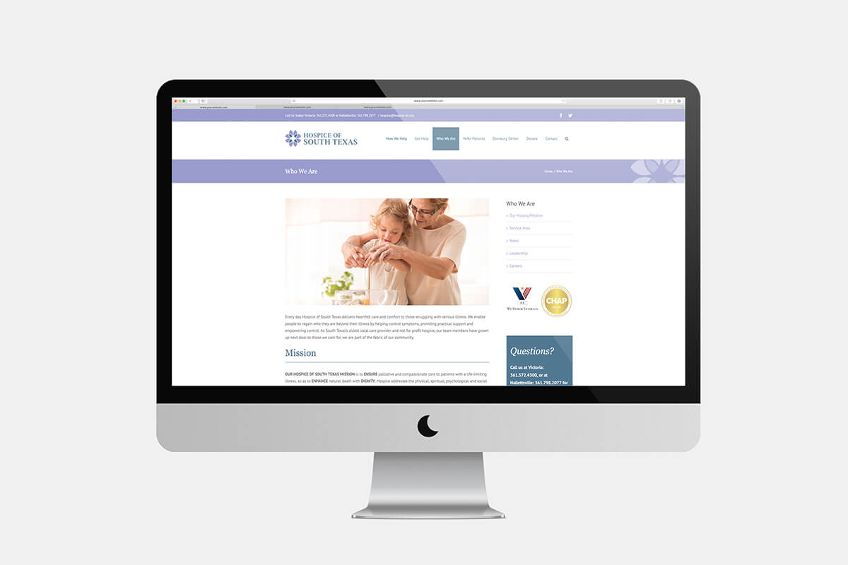 hospice website design hospice marketing raleigh nc