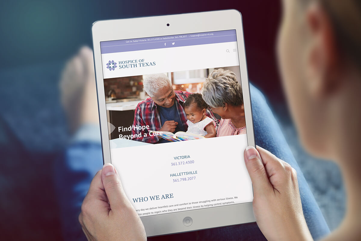 hospice responsive website design hospice marketing raleigh nc