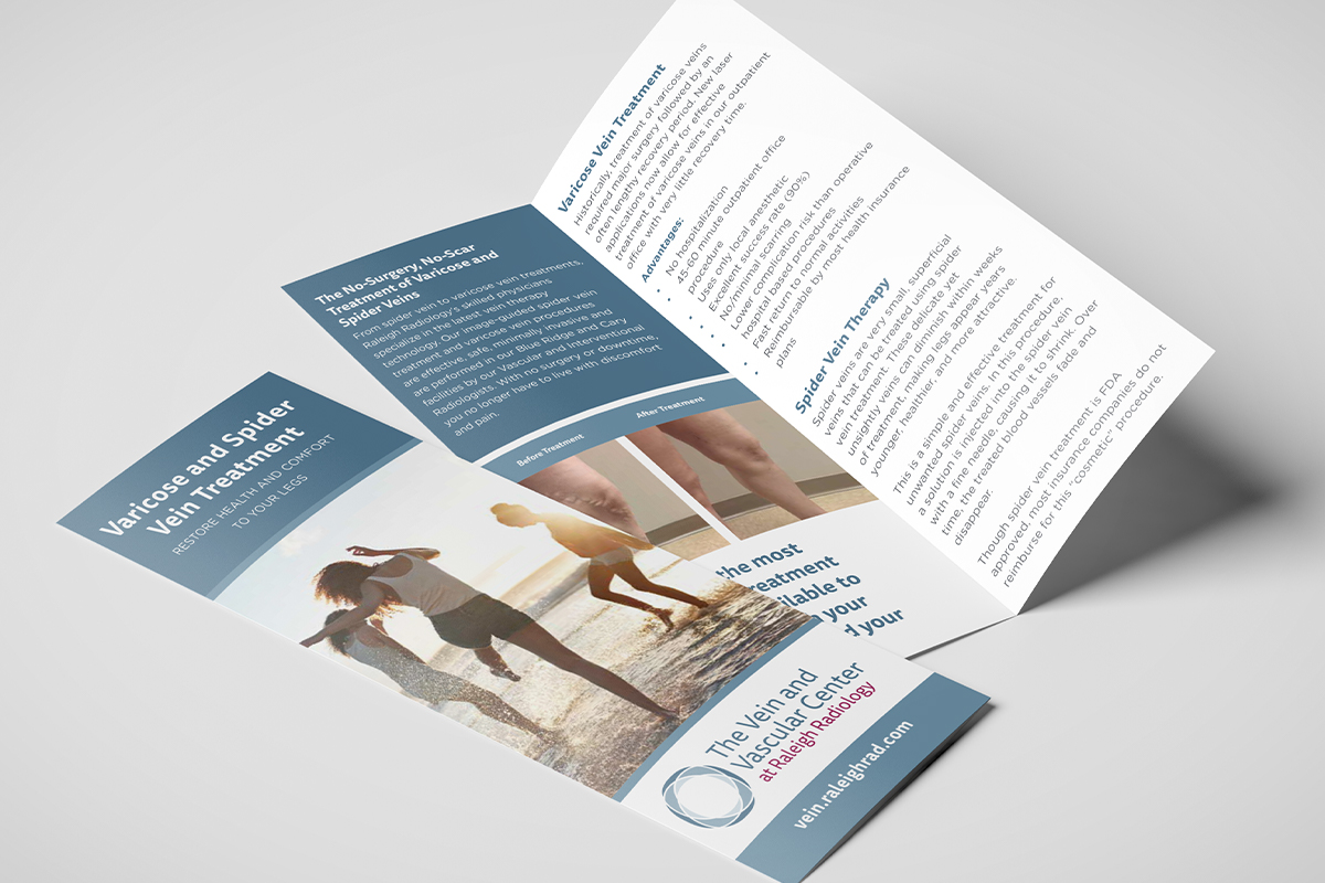 vein clinic brochure design vein clinic marketing raleigh nc