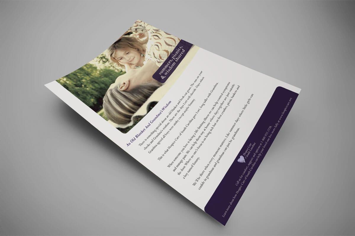hospice advertisement design hospice marketing raleigh nc