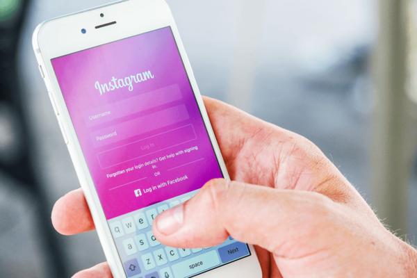 iphone on Instagram login screen social media marketing raleigh