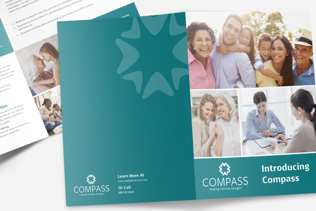 hospice marketing brochure design raleigh nc