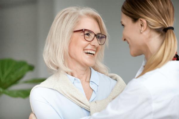 Nurse and Senior Women Healthcare Marketing Raleigh NC