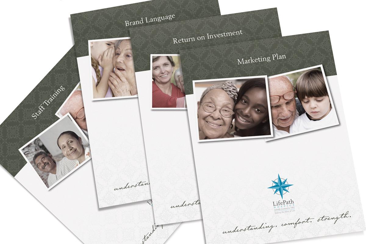hospice branding brochure raleigh nc